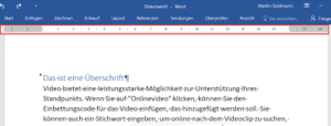 Das Lineal in Word