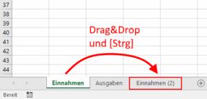 Excel - Register innerhalb kopieren