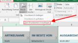 Excel - Zum Druckbereich hinzufügen
