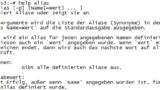 Linux - Hilfe zu alias