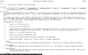 Linux - Beispiel für Hilfe per man