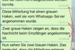 Whatsapp - Symbole für Lesebestätigung