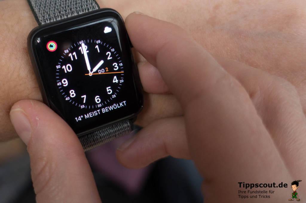 Screenshot mit der Apple Watch