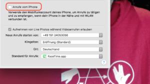 iPhone-Anrufe auf dem Mac abschalten