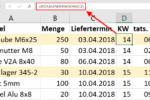 Kalenderwoche in Excel berechnen