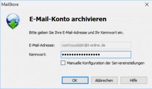 Mailstore - Profil einrichten