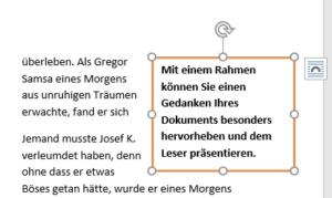 Word - Beispiel Textfeld