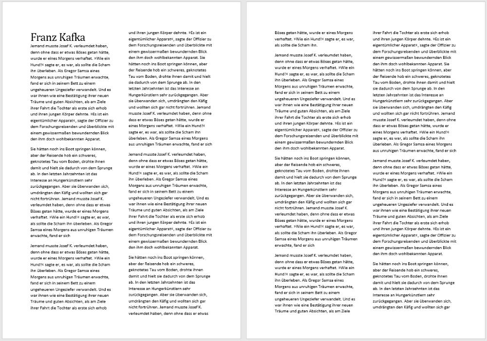 Word So Verwenden Sie Mehrere Spalten In Einem Dokument Tippscoutde