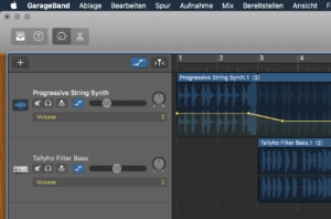 Spur Lautstärke mit Keyframes regeln