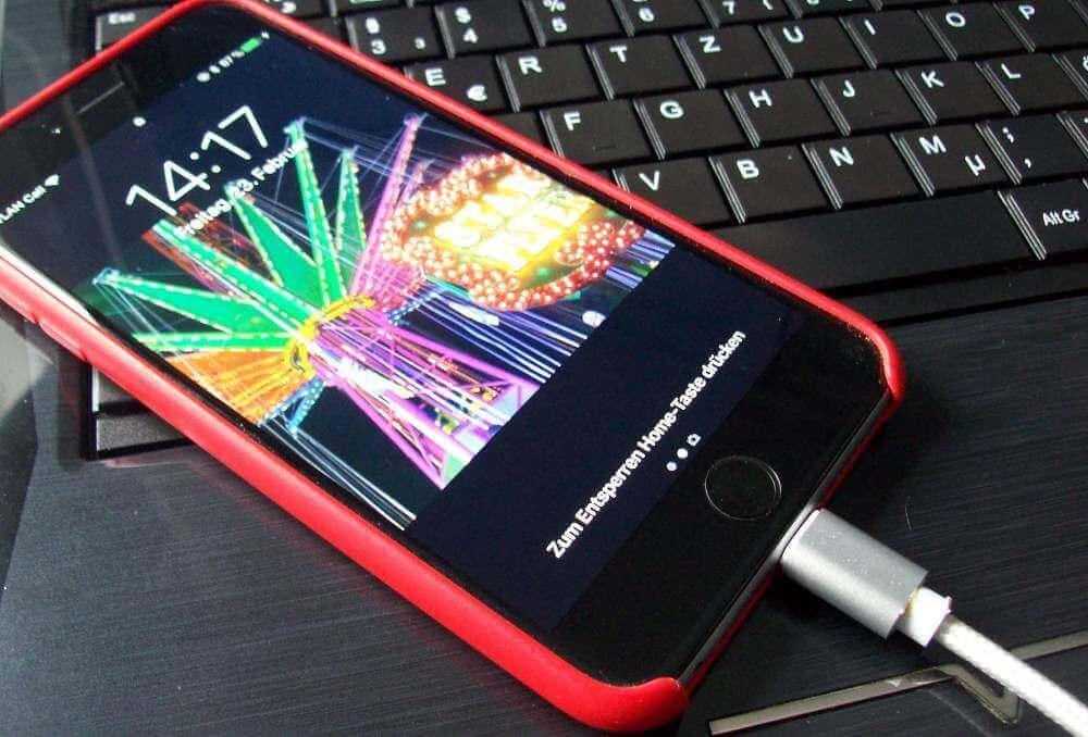 iPhone beim Synchronisieren