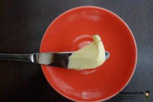 Butter auf Messer
