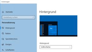 Windows Hintergrundfarbe ändern