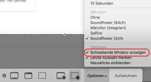 Mac OS Screenshot-Vorschau abschalten