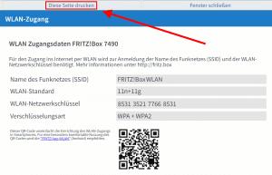 Beispiel QR Code Fritzbox