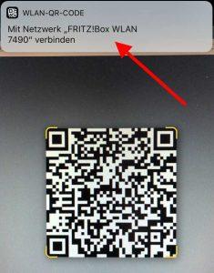 iPhone kommt per QR-Code ins WLAN