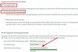 Fritzbox Gastnetz einrichten