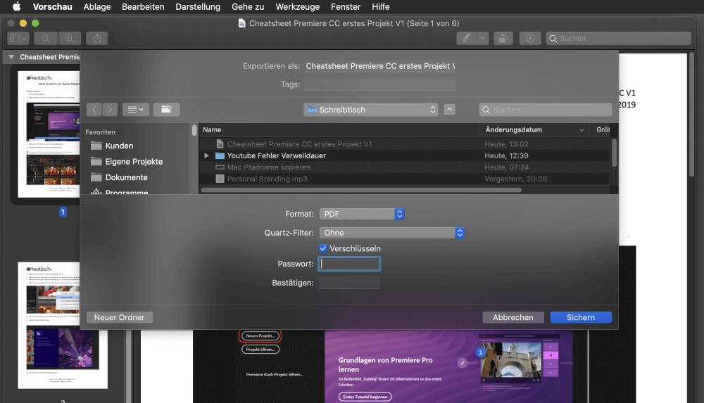 PDF verschlüsseln MAC