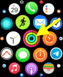 In der App Aktivität legen Sie die Fitnessziele fest