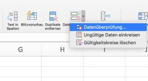 Die Datenüberprüfung schränkt in Excel ein, welche Werte man eingeben darf.