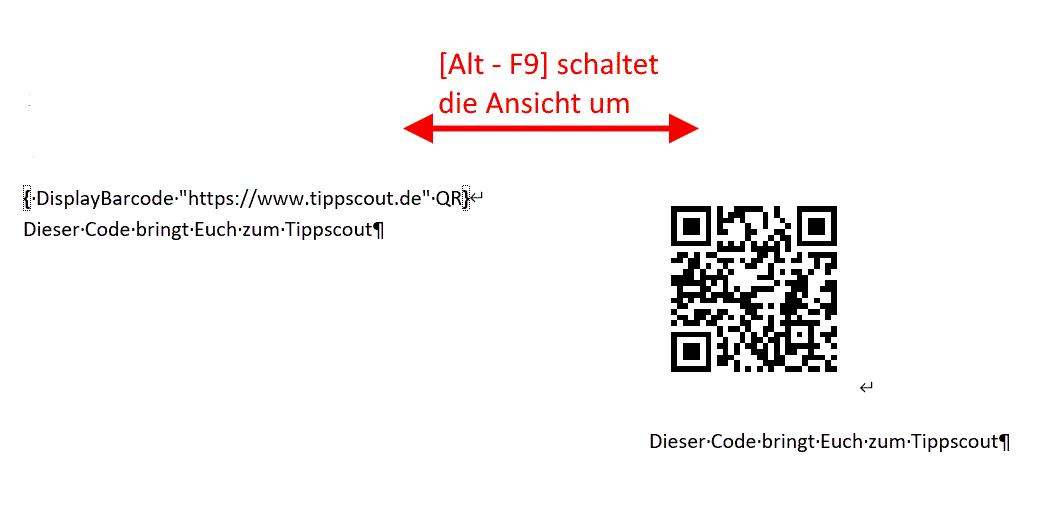 QR-Code in Word einfügen