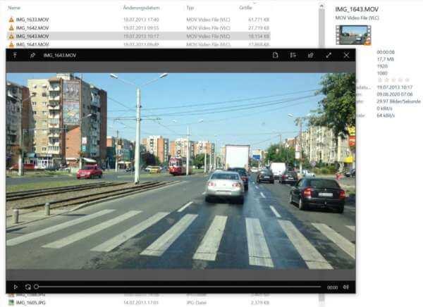 Quicklook Video-Beispiel