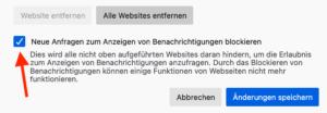 Benachrichtigungen in Firefox sperren